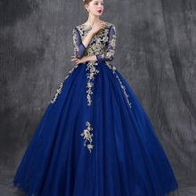Ball-Gown Prom-Dress Quinceanera-Dresses Royal-Blue Elegant Tulle 15-Anos Vintage Sweet