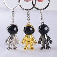 2019 New Astronaut Keychain Space Robot Key Chain Zinc Alloy Keychains  Pendant Creative Car Keyring Fashion Mens and Women