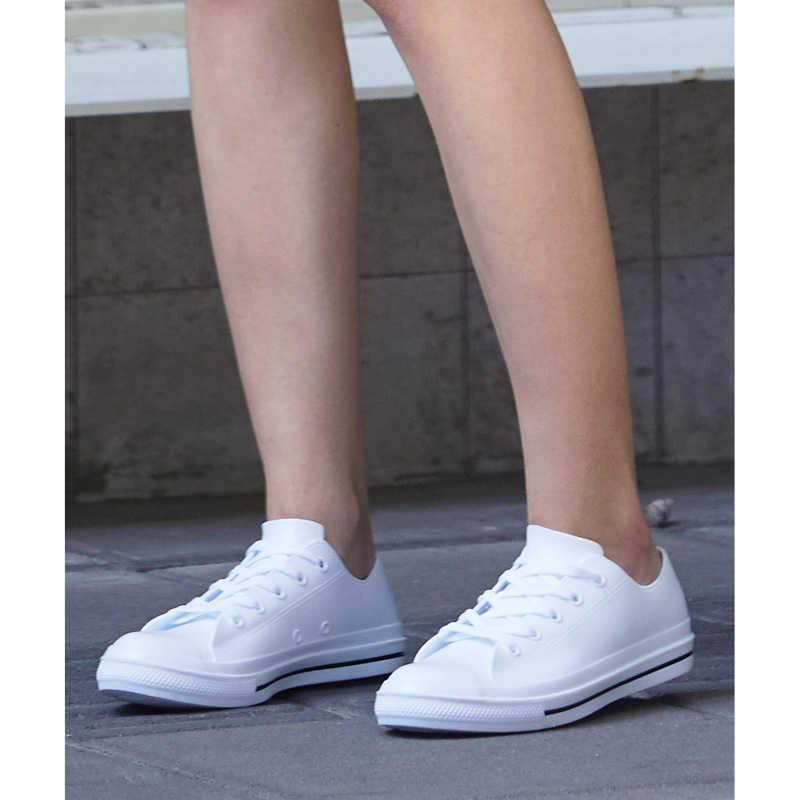 Sneakers Women Waterproof PVC Lace Up