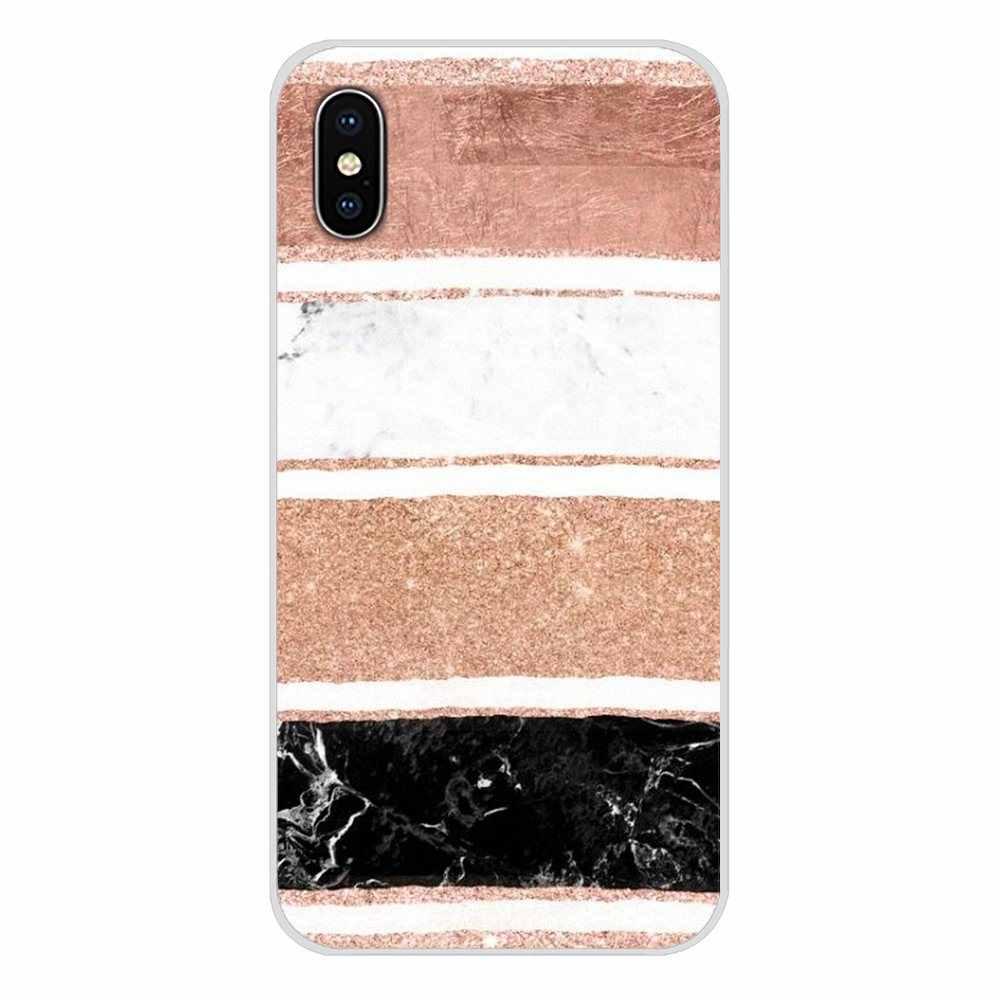 Rose gold mármore moderno listras 4A S2 Macio Caso Shell Transparente Para Xiaomi Redmi Nota 3 3S 4 4X5 Plus 6 7 6A Pro Pocophone F1