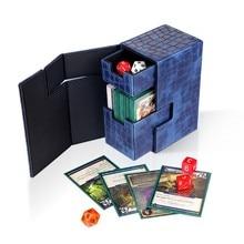 Collection de conteneur de boîte de cartes de dés de boîte de cartes de Double pont pour la livraison directe magique de la gcc MTG TCG
