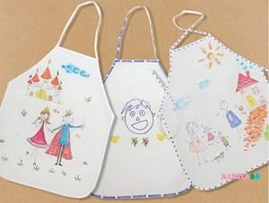 Kid Craft Toy Painting Kindergarten DIY 1000pcs Kitchen 40x50cm Apron Drink Baking Disposable