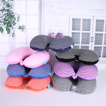 U-shaped Pillow Foam Particle Neck Simple Travel Car Train Aircraft Protection 7 Colors