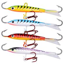 4pcs/Set Minnow Ice Fishing Lure 18g 8cm Hard Artificial Bait Jigging Balancer For Winter Carp Pike Wobbler