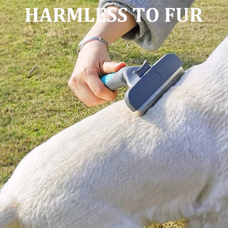 Benepaw 전문 자기 청소 개 빗 편안한 손잡이 긴 짧은 머리 애완 동물 브러시 손질 효과적인 Deshedding 도구
