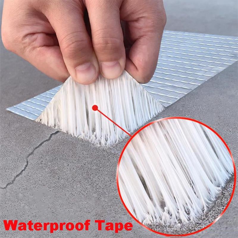 Waterproof Tape High Temperature Resistant Self Adhesive Aluminum Foil Butyl Rubber Tape Wall Cracks Ground Roof Repair Tools