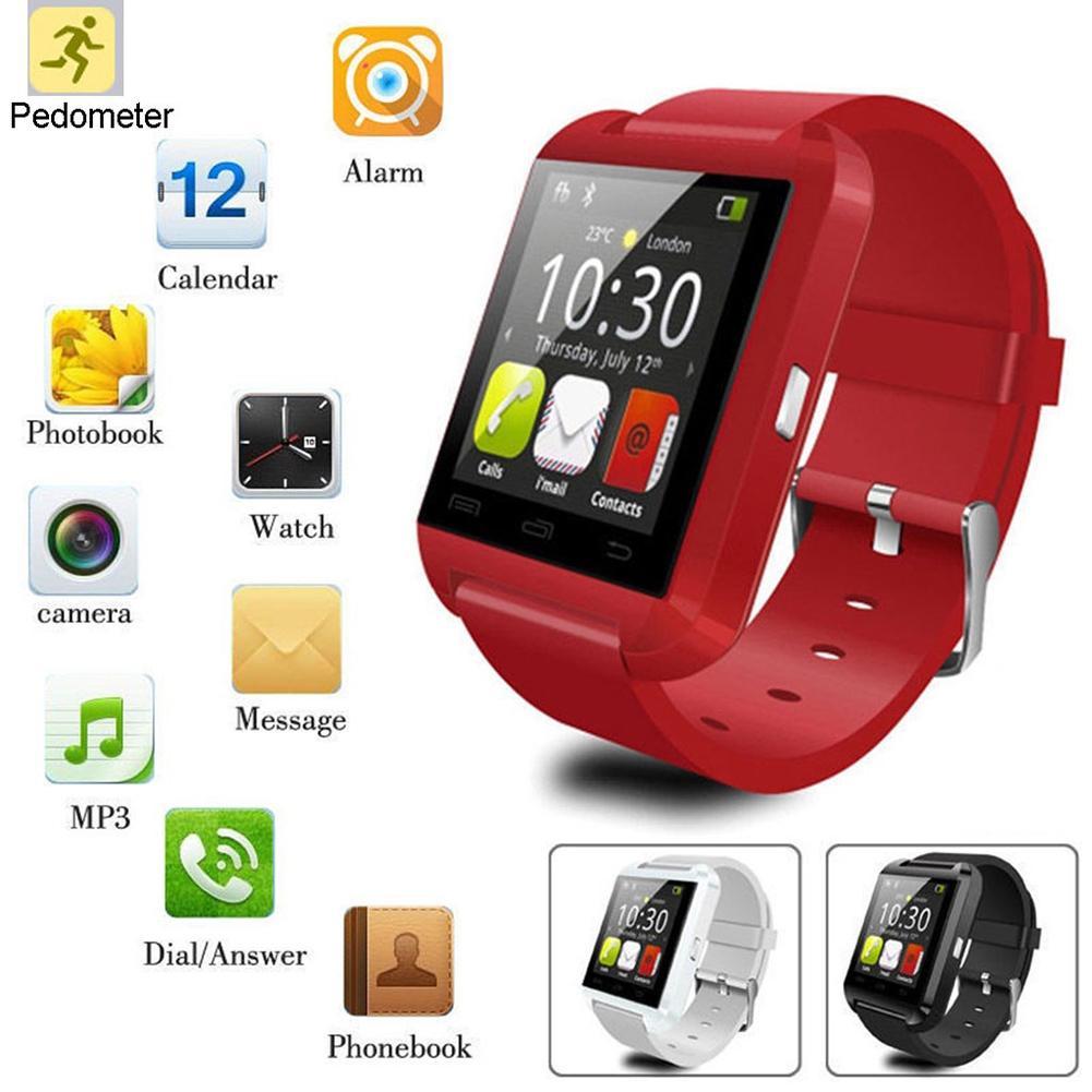 U8 Bluetooth Smart Watch 1.44inch Sport Wristwatch Smartwatch For Android Phone