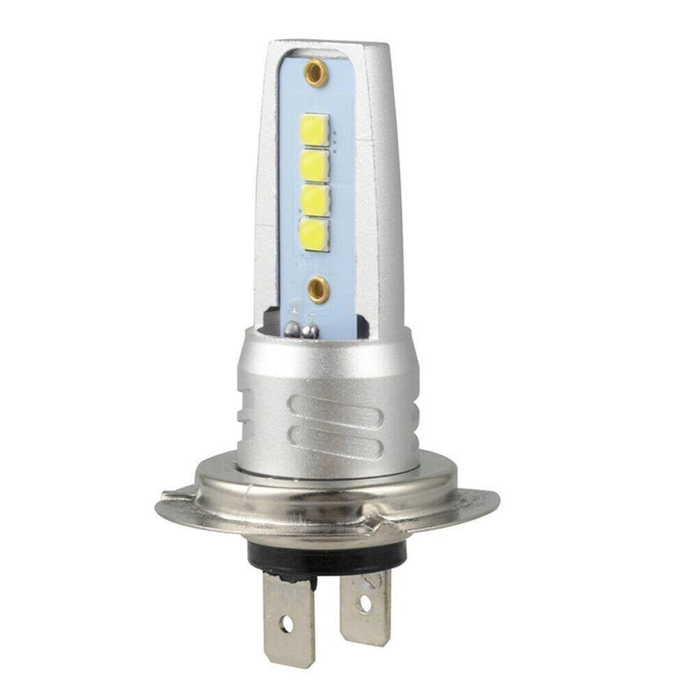 1pcs H7 3030 Led Headlight Light Bulb Kit 6000k White 55w 6000lm Fog Light 3030 Chip White Yellow Motorcycle Headlight Fog Lamp