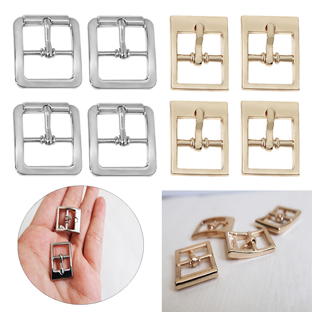 4pcs Center Bar Buckles Single Pin Prong Belt Buckle Accessories From