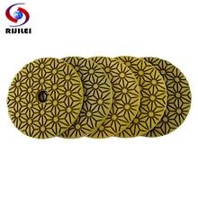 цена на RIJILEI 5PCS 4inch diamond polishing pads 100mm flexible wet concrete floor polishing pad for granite marble Grinding Disc
