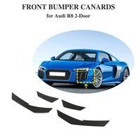 炭素繊維フロントバンパー Canard フィンアウディ R8 2016-2018