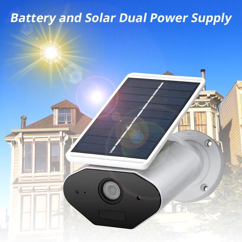 FUERS WiFi IP Camera 960P HD Solar Power  Rechargeable Battery Outdoor Indoor Security IP65 Waterproof  WIFI Camera APP Control