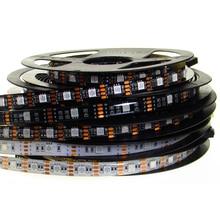 RGB Led Light Strip 5V SMD 5050 5M 150Leds 300Leds Black White PCB Waterproof TV Backlight 5 V Led RGB Strip Light Tape Lamp