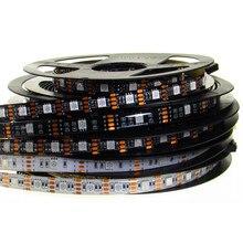 Bande lumineuse RGB Led 5050, 5 V, SMD 150, 5M, 300 diodes, noir, blanc, PCB, étanche, rétro-éclairage de télévision, 5 V