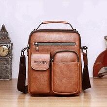 Brand Designer Shoulder Fashion Bag Men Business Portable Cr