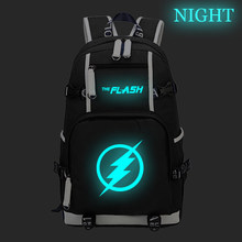 Superhero The Flash Backpack Teens Kid Boys Girls School Bag Children Kid Travel Backpack Large Capacity Luminous Backpack(China)