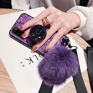 Image 5 - KONSMART Fashion Phone Case Reno 4 Lite Luxury Glitter Marble Silicone Soft Ring Back Cover For OPPO Reno 4lite Case With Strap