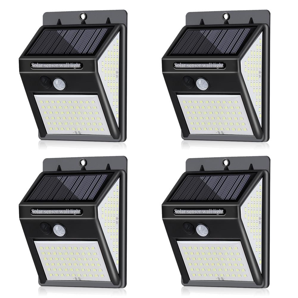 1/2/4pcs Solar Motion Sensor Outdoor Wall Light Waterproof 140LED 3 Modes Garden Courtyard Porch Driveway Lamp Solar Light