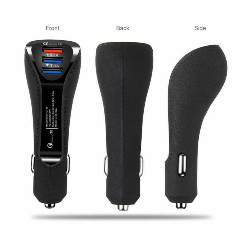 USB Car Charger 3USB Dual Port QC Quick 3.0 Charge Fast Charger for Xiaomi Samsung iPhone Huawei QC3.0 Charger