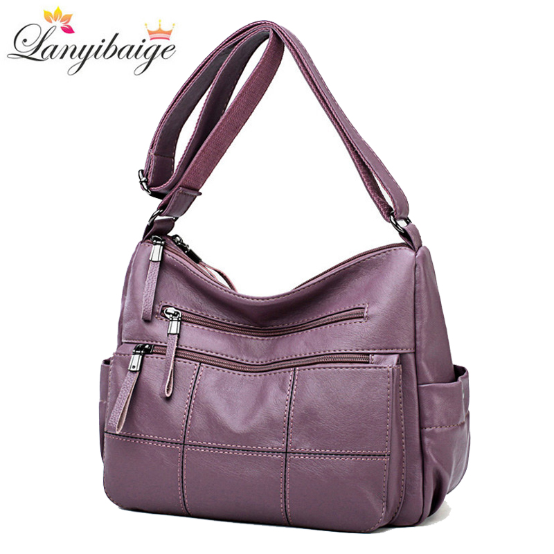 Designer Luxury Ladies Handbags Female Crossbody Bags For Women 2019 Soft Leather Shoulder Messenger Bags For Lady Sac A Main