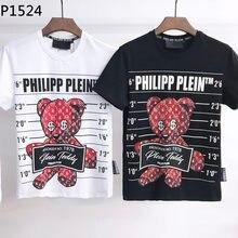 L'étranger Authentique 2021 NOUVEAU philipp plein T-Shirt PP Courtes O-cou tees manches Hauts Vêtements Pour Hommes P1524