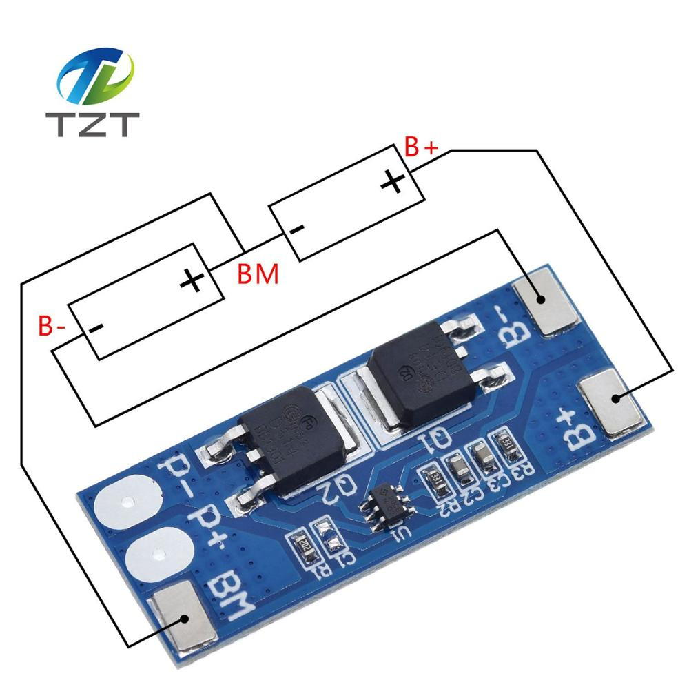 2S 8A Li-Ion 7,4 v 8,4 V 18650 BMS PCM 15A плата защиты батареи пикового тока bms Pcm для литий-ионного аккумулятора Lipo