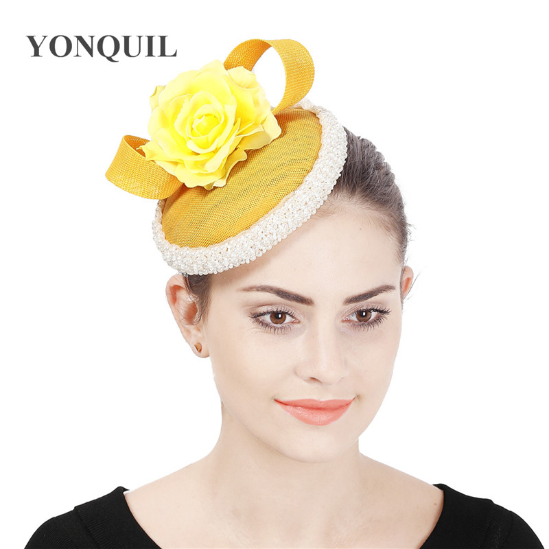 Ladies Feather /& Flower Hair Fascinator Wedding Evening Party New