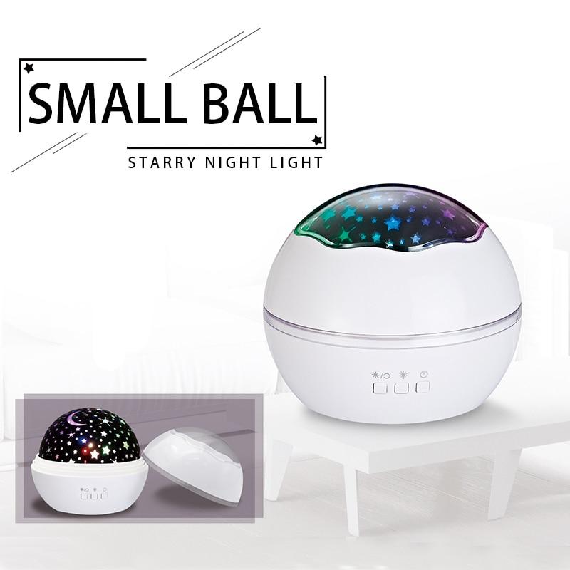 Presentes de natal 3D Girando Projetor Estrela