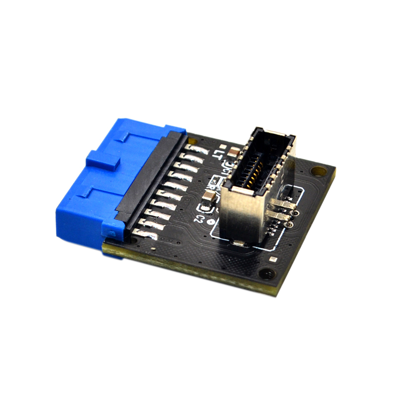 Computer Connectors USB 3.1 Front Panel PC Socket to USB 3.0 20Pin Header Extension Adapter for ASUS Motherboard PW-INC1TR 4