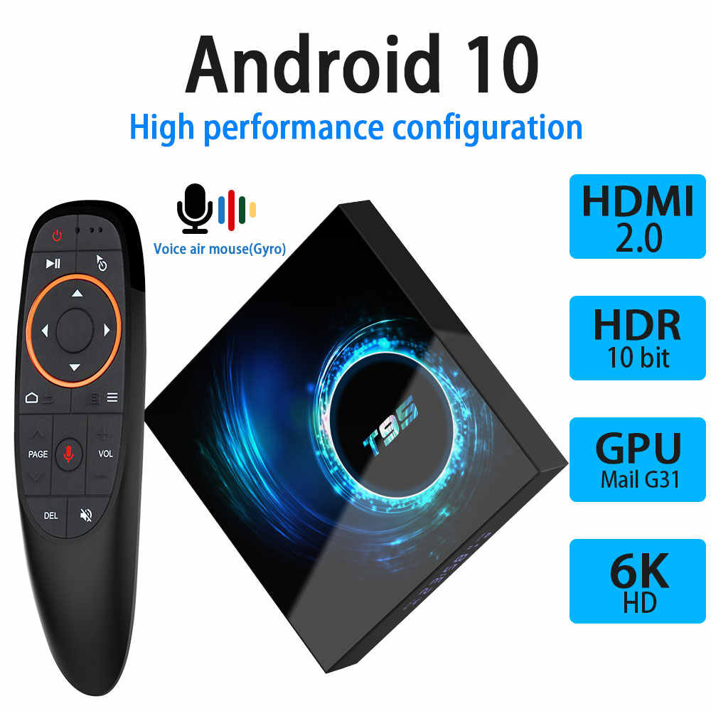 Android 10.0 caixa de tv 4 gb 32 gb 64 gb youtube netflix h616 quad core 1080 p h.265 6 k wifi 2.4g media player conjunto caixa superior