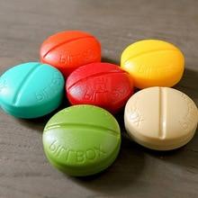 1Pc Medicine Pill Box Mini Round Portable Travel Storage Vitamin Sort Tablet Holder Organizer Container Cases 4 Grids