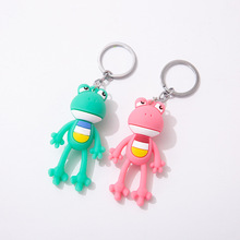 2020 Cartoon Frog Keychains Couple Figurine Key Chain Childrens Creative Birthday Gift Student Bag Pendant Ring