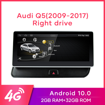 "MCWAUTO for Audi Q5 2009-2016 10.25"" Right Drive Car Radio Android10.0 GPS Navigation 4G WiFi BT Mirrorlink 2G RAM 32G ROM image"