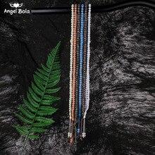 Cuentas de Rosario musulmán de alta calidad, 8mm, 99 cuentas de oración Natural, abalorio, pulsera de Oriente Medio, joyas de á