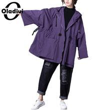 Oladivi Oversized Plus Size Women Hooded Jackets 2019 Autumn