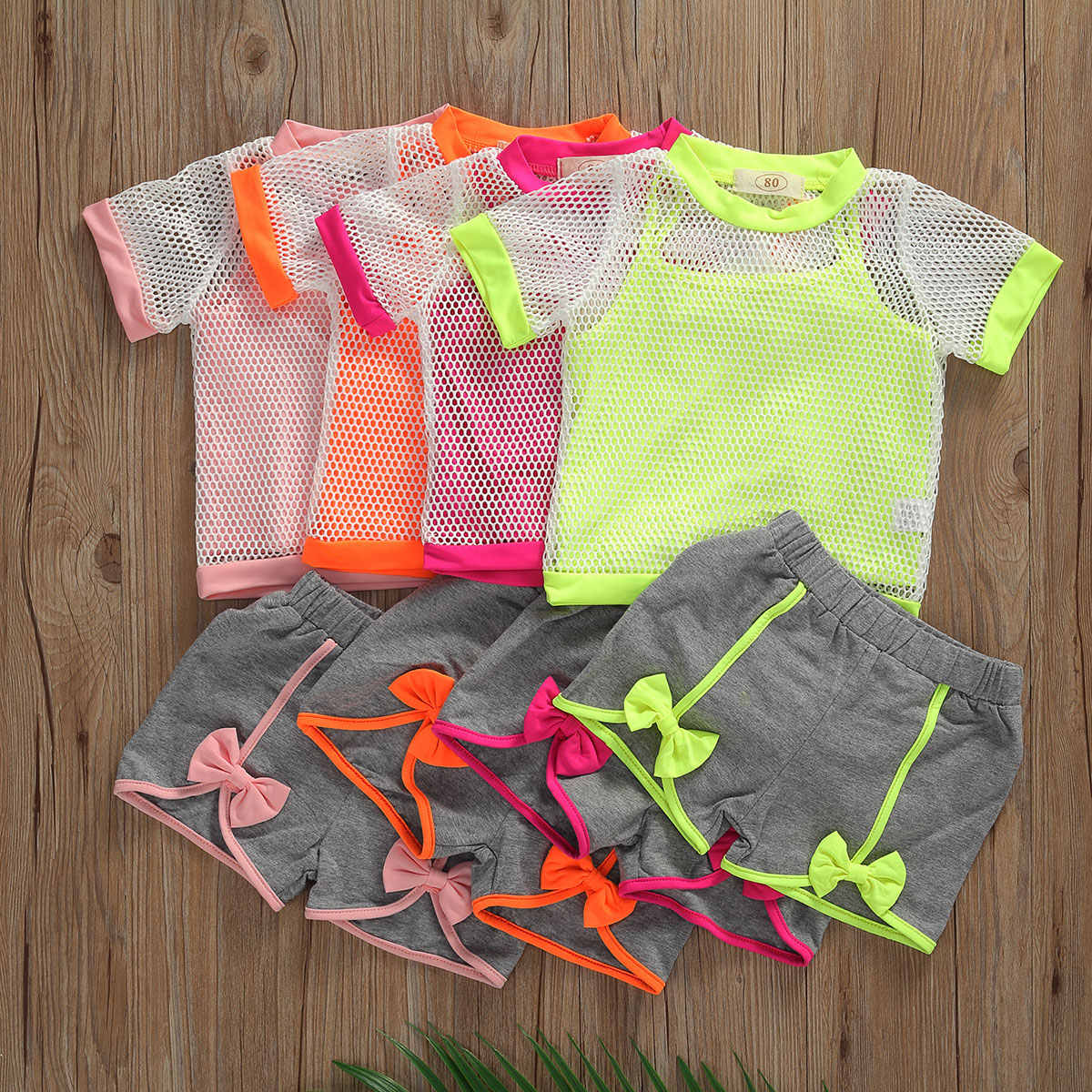 Toddler Baby Girls Clothes Summer Casual T Shirt Tops Shorts Pants Sport Outfits