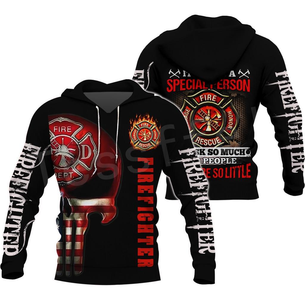 Tessffel Firefighters Suit Firemen Hero Harajuku Pullover NewFashion 3DfullPrint Zipper/Hoodies/Sweatshirt/Jacket/Men/Women S-10