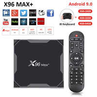X96 Max Plus Android 9,0 Smart TV BOX 4 GB/64 GB TVBOX Amlogic S905X3 H.265 4K 2,4G 5G WiFi reproductor multimedia Set Top Box X 96.