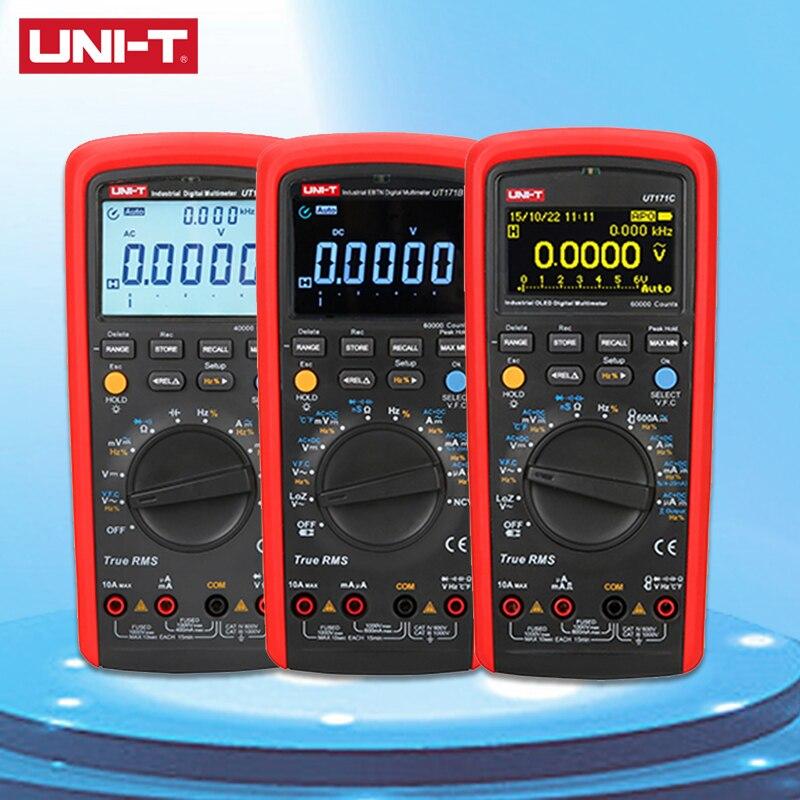 UNI-T UT171 Series Industrial True RMS Digital Multimeters Admittance 60K Counts Resistance Tester Original Measure Multimeters