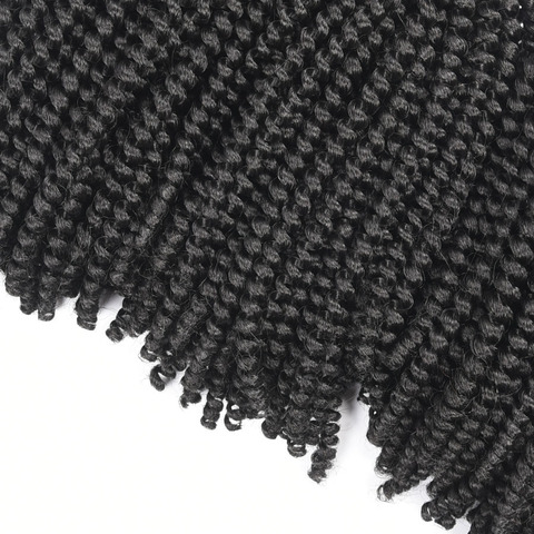 TOMO 8Inch Crochet Braids Ombre Spring Twist Hair Kanekalon Synthetic Hair Extensions Braids Kinky Curly Twists 30Roots Multan