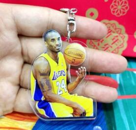 Vinyl Kobe Basketball Star Bryant Keychain Pendant Key Ring Bouquet Toy Doll DIY Ornaments Gifts