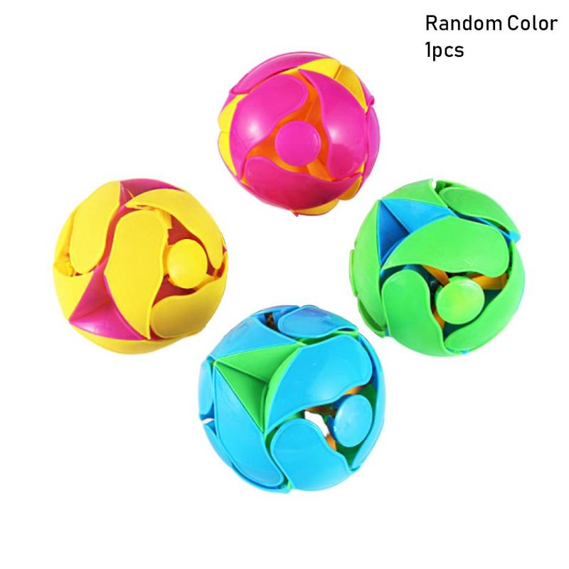 Creative Hand Tossed Transform Telescopic Deformation Color Ball Magic Props Decompression 3D Puzzle Intellectual Education Toys
