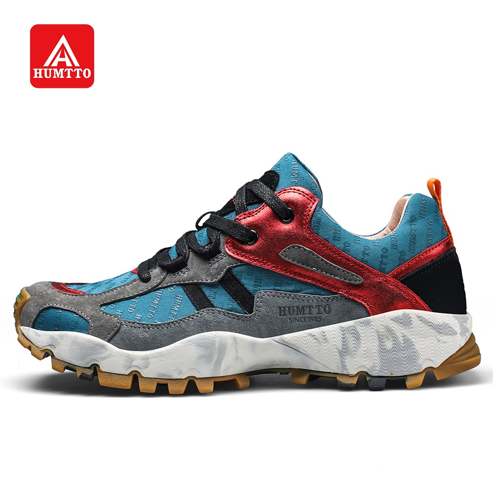 HUMTTO Men Walking Shoes Urban Leisure Fashion Cushioning Jogging Fitness Sports Shoes Mixed Color Lightweight Non Slip