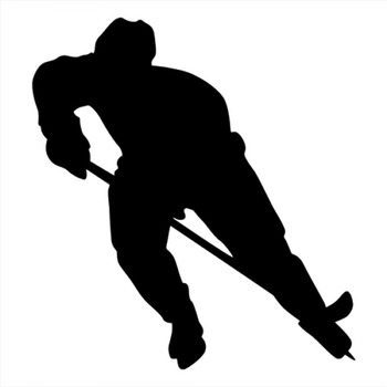 18x16cm Ice hockey Sportman Boy Stickers athlete Lover Car Stickers For Car Front Windshield Rainproof Decal CL330 image