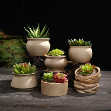 Chzimade глазурованные керамические бонсай цветочные горшки для цветочных растений небольшой горшок для растений Diy украшения дома