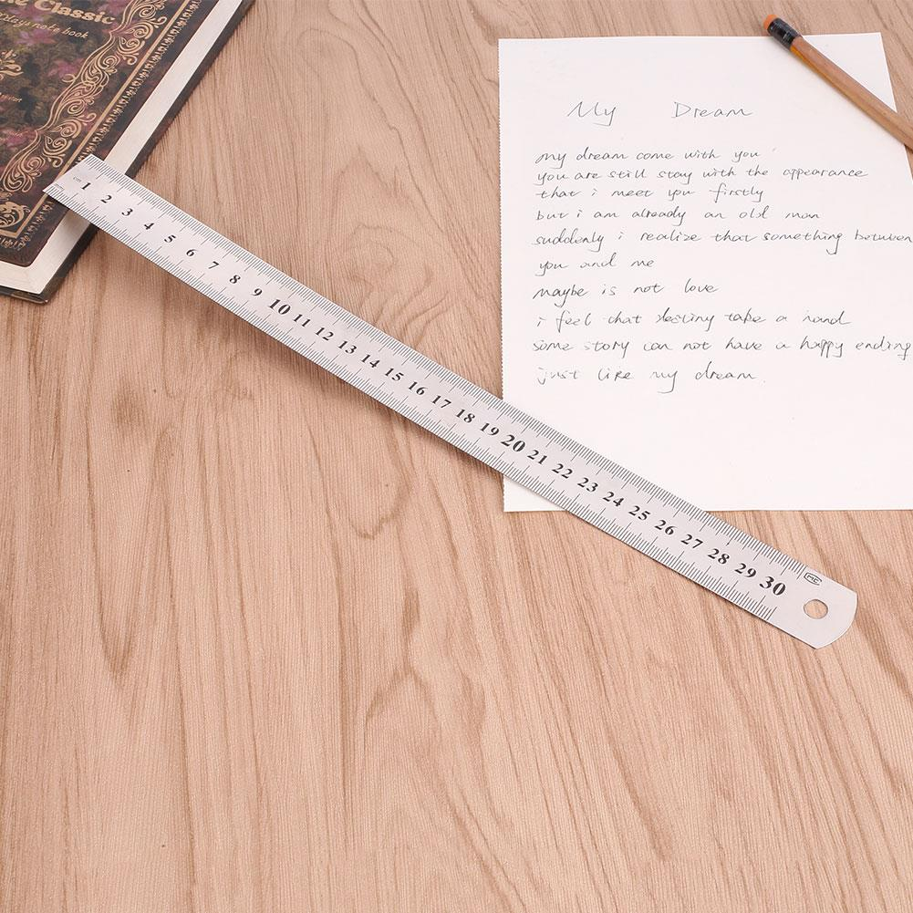 Straight Edge 30cm Double Sided Metric Ruler Rulers 12 Inch Precision Small Ruler