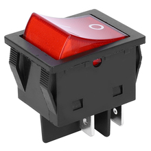цена на 5PCs Rocker Switch LED Light Red Button Industrial Control Accessory 250V 10A Plastic Boat Switch