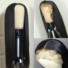 13x6 תחרה מול שיער טבעי פאות 8 28 אינץ ברזילאי ישר רמי שיער לנשים עם תינוק שיער אקונומיקה קשרים מראש קטף 150%