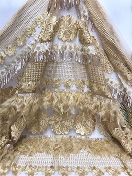Newly designed African French lace fabric 2020 high-quality lace fabric with sequined Nigerian lace fabric J3648