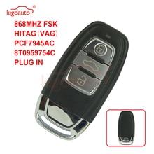 цена на Kigoauto Smart key 3 button 868Mhz for Audi 8T0959754C A3 A4 A6 A5 A8 Q5 Q7 car key